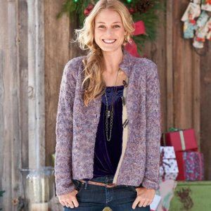 Plumberry Cabled Sweater Cardigan SUNDANCE catalog